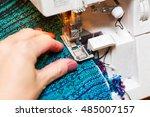 women's hands behind her sewing.... | Shutterstock . vector #485007157