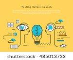 line flat vector business... | Shutterstock .eps vector #485013733
