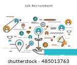 line flat vector business... | Shutterstock .eps vector #485013763