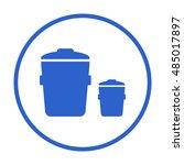 trash can icon. flat design.