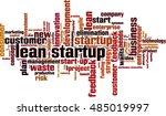 lean startup word cloud concept....   Shutterstock .eps vector #485019997