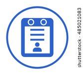 calendar icon. flat design. | Shutterstock .eps vector #485021083