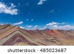 rainbow mountains  cuzco  peru  | Shutterstock . vector #485023687