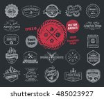 collection of vintage retro... | Shutterstock .eps vector #485023927
