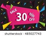 sale banner template for... | Shutterstock .eps vector #485027743