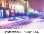 colours city at night in... | Shutterstock . vector #485047237