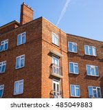 block of council flats in red... | Shutterstock . vector #485049883