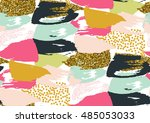 vector seamless pattern with... | Shutterstock .eps vector #485053033