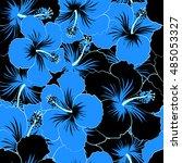 seamless pattern of stylized... | Shutterstock . vector #485053327