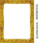 gold photo frame with corner... | Shutterstock .eps vector #485084533
