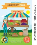 vegetables trade fair flyer.... | Shutterstock .eps vector #485092177