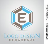 e letter in the hexagonal logo. ...