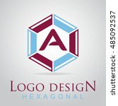 a letter in the hexagonal logo. ...