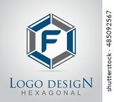 f letter in the hexagonal logo. ...
