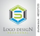 s letter in the hexagonal logo. ...