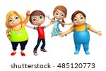 3d rendered illustration of kid ... | Shutterstock . vector #485120773