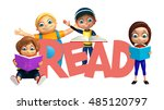 3d rendered illustration of kid ... | Shutterstock . vector #485120797