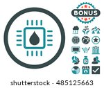 drop analysis chip icon with... | Shutterstock .eps vector #485125663