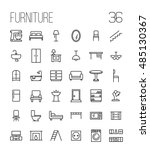 set of furniture icons in... | Shutterstock .eps vector #485130367