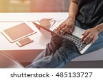 online marketing business in... | Shutterstock . vector #485133727