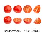 Cherry Tomato Isolated On White