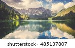 panorama of mountain lake | Shutterstock . vector #485137807