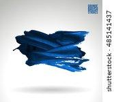 brushstroke and texture. vector ... | Shutterstock .eps vector #485141437
