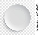 empty white dish plate... | Shutterstock .eps vector #485147473