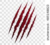 claw scratch mark. vector bear...   Shutterstock .eps vector #485148823