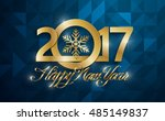 happy new 2017 year greeting... | Shutterstock .eps vector #485149837