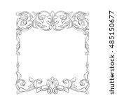 vintage baroque frame scroll... | Shutterstock .eps vector #485150677