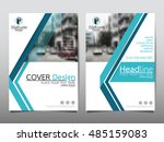 blue technology cover business... | Shutterstock .eps vector #485159083