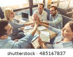 business people in smart casual ...   Shutterstock . vector #485167837