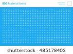 huge bundle of material design... | Shutterstock .eps vector #485178403