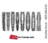 vector set of grunge hatching.... | Shutterstock .eps vector #485186143