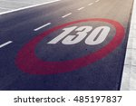 130 kmph or mph driving speed... | Shutterstock . vector #485197837