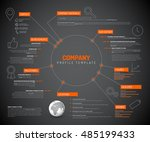 vector company infographic... | Shutterstock .eps vector #485199433