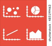 set of graphs  diagrams and... | Shutterstock .eps vector #485199463