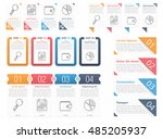 set of different infographic... | Shutterstock .eps vector #485205937