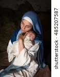 Live Christmas Nativity Scene...