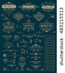 vintage logos and kit elements. ... | Shutterstock .eps vector #485215513