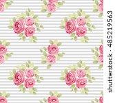 cute seamless shabby chic... | Shutterstock .eps vector #485219563