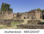 ruins of old capital. gondar ... | Shutterstock . vector #485220247