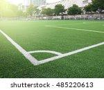 green grass conner of football... | Shutterstock . vector #485220613
