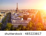 view of the eiffel tower view...   Shutterstock . vector #485223817