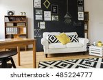 modern designed room with a... | Shutterstock . vector #485224777