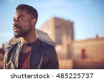good looking young black man in ... | Shutterstock . vector #485225737