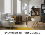 modern designed room interior... | Shutterstock . vector #485226517