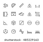 measuring related vector icon... | Shutterstock .eps vector #485229163
