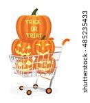 halloween pumpkins on a...